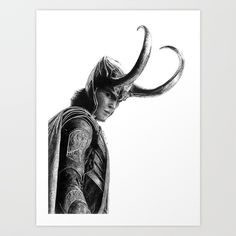 Loki. Drawing by me. Buy it now! Check out the other products with this art design!
