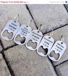 10% OFF SALE Set of 8 Personalized Bottle Opener Key Chain -Laser Engraved Groomsmen Gift, Wedding, Beer Lover, Custom Key Chain on Etsy, $122.33