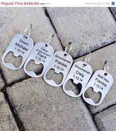 Wedding Gift Ideas For Beer Lovers : ... Groomsmen Gift, Wedding, Beer Lover, Custom Key Chain on Etsy, USD122.33