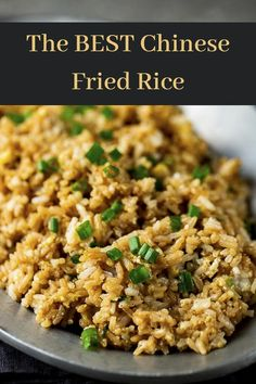 This Chinese Fried Rice Recipe is is the best easy to make Chinese takeout recipe ever! It's super quick and easy, and perfect as a side dish or an entree. Learn how to make authentic Chinese fried rice, just like in the restaurants, in under 20 minutes. Chinese Side Dishes, Rice Side Dishes, Chinese Dishes Recipes, Authentic Chinese Recipes, Chinese Food, Fried Rice Recipe Chinese, Pork Fried Rice Recipe Authentic, Stir Fried Rice Recipe, Chicken Fried Rice Recipe Easy