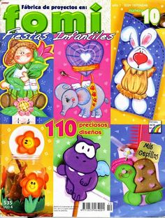 Revistas de Foamy gratis: manualidades para fiestas infantiles