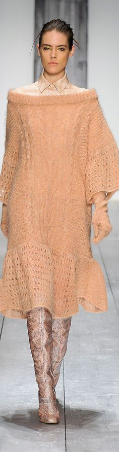 @roressclothes clothing ideas #women fashion knit dress Laura Biagiotti Collections Fall Winter 2015-16