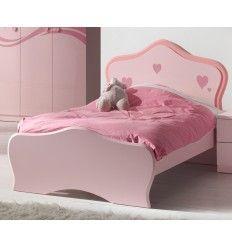 lit rose pour petite fille - Lit Enfant Fille