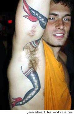 How much does a armpit tattoo hurt? We have armpit tattoo ideas, designs, pain placement, and we have costs and prices of the tattoo. Tattoo Fails, Armpit Tattoo, Epic Tattoo, Horrible Tattoos, Weird Tattoos, Funny Tattoos, Cool Tattoos, Tattoo Ideas, Bad Tattoos