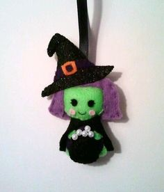 Wanda the Witch Halloween Felt Ornament by heartfeltbymsmegas, $19.00 -- could use for paper piecing