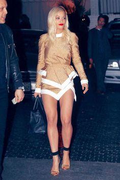rita ora fashion style | Rita Ora wearing Alexandre Vauthier Spring 2014 Couture