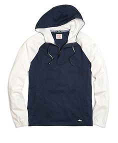 Red Fleece Color-block Sleeve Hooded Pullover - Brooks Brothers Brooks  Brothers ccffed39c