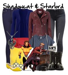 Shadowcat & Starlord by amarie104 on Polyvore featuring polyvore fashion style WearAll H&M Sans Souci IRO Levi's Boohoo Moncler Marc Fisher LTD CÉLINE CASSETTE Hermès Carolina Glamour Collection clothing