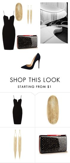 """""""Going to the club with my girls"""" by alexiawilliams-1 ❤ liked on Polyvore featuring Venyx, Panacea and Christian Louboutin"""