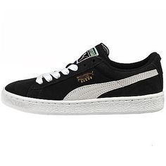 PUMA SUEDE JUNIORS 355110-01 Black White Gs Kids Shoes Sneakers Youth Size 6.5