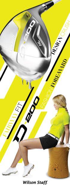 Golf . Women . Female . Citron . Athletic . Style . Wilson Staff . Neon . Driver . D200 . Fitness . Fashion . Design . Fairway