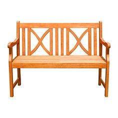 VIFAH V446E Outdoor Two Person Bench Softcross ** Click the image to view the details