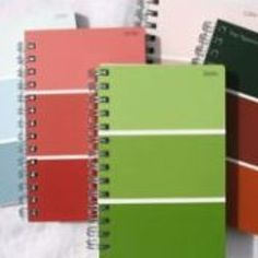 index card notebook with paint strip covers