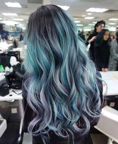 54 Crazy Pastel Hair Color Ideas For Unique Hairstyles - Beauty Tips Ombre Hair Color, Hair Color Balayage, Cool Hair Color, Purple Hair, Blue Hair Colors, Mermaid Hair Colors, Haircolor, Blue Grey Hair, Dyed Hair Ombre
