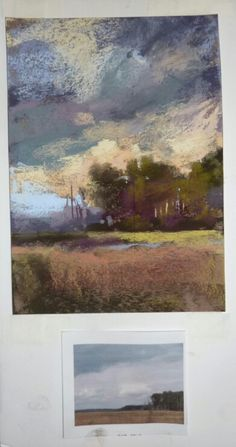 Plein Aire study - pastel - and photograph references Chalk Pastel Art, Soft Pastel Art, Pastel Drawing, Chalk Pastels, Soft Pastels, Pastel Paintings, Pastel Landscape, Abstract Landscape, Landscape Paintings