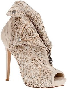 McQueen Shoes. Work of art.. I'm obsessed with his work