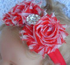 Christmas peppermint striped ribbon headband by Joysheartcreations, $6.95