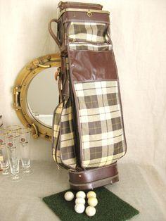 Plaid Golf Bag Plaid Pattern, Golf Bags, Burgundy, Beige, Wine Red Hair, Amaranth Grain, Ash Beige