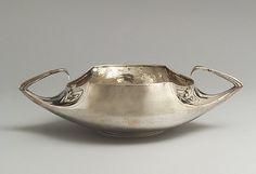 "Henry van de Velde (1863-1957) - Jardinière. Silver. Manufactured by  Theodore Muller, Weimar. Circa 1902.  4-1/8"" x 14"" (10.5cm x 35.6cm)."