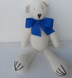 Urso Decorativo Crochê Neutro