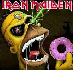 """Good combination!! Iron Maiden & Homero """"IRONSIMPSON"""""""