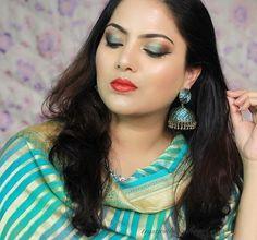 Indian Festive Makeup Tutorial, Indian makeup, teej makeup,Trystwithvanillagirl