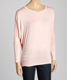 Another great find on #zulily! MOA Collection Peach Dolman Top by MOA Collection #zulilyfinds