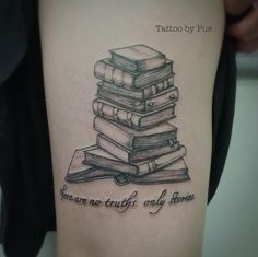 Books tattoo idea.
