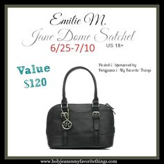 Emilie M. Jane Dome Satchel #Giveaway Ends 7/10 - Holyjeans & My Favorite Things