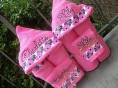 Personalized Hooded Towel. Cute gifts