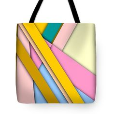 Simple Abstract 329 Tote Bag by Chris Butler. #totebag #bag #abstract #colorful #design #art #Lifestyle