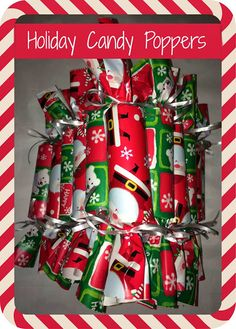 Make your Own Holiday Candy Poppers #christmas #diy #crafts