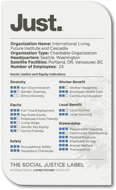 La etiqueta Just, la transparencia y la responsabilidad social corporativa