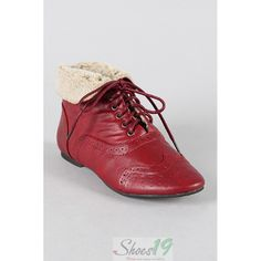 ankle oxfords red