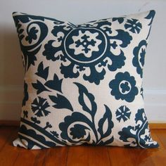 Birch Blue Suzani Pillow Cover from iviemade