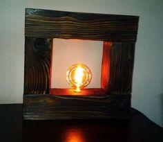 Lampa z starej opalanej belki z żarówką Edisona LOFT INDUSTRIAL retro Osiek…