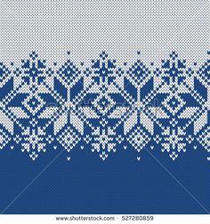 Norway Festive Sweater Fairisle Design. Seamless Knitting Pattern