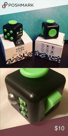 Fidget cube stress reliever Click it slide it turn it..Play with it...it helps anxiety and stress Other