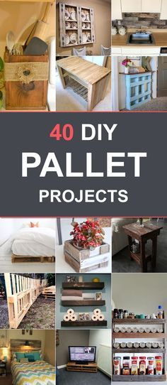 40 DIY Pallet Projects to Make Your Living Space Perfect!