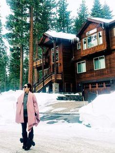 12.15 post card from lake tahoe (Sentaler wrap + Elie Tahari sweater + Zara faux leather pants + Manitobah Mukluks boots)