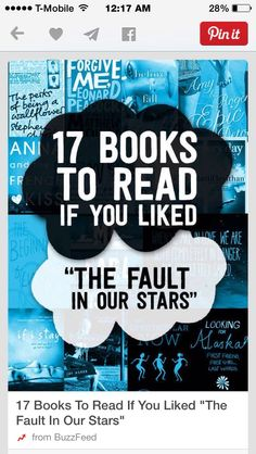 1⃣7⃣ Books To Read If You Liked The Fault In Our Stars✨ Like 4⃣ More  #Entertainment #Trusper #Tip