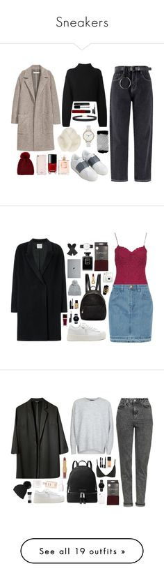 """Sneakers"" by thestylecloset1 ❤ liked on Polyvore featuring DKNY, Valentino, ASOS, Skagen, Humble Chic, River Island, Kate Spade, Kyi Kyi, Chanel and NYX"