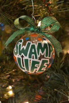 Swamp Life Florida Gator Christmas ornament by JustGatorStuff