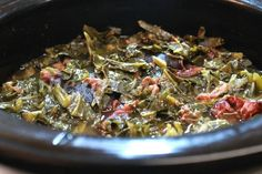 Southern, Soul food Collard Greens and Smoked Ham Hocks made in the Crock-Pot greens recipe crockpot soul food Crock-Pot Collard Greens and Ham Hocks Crockpot Collard Greens, Easy Collard Greens Recipe, Southern Collard Greens, Slow Cooker Recipes, Crockpot Recipes, Cooking Recipes, Keto Recipes, Crockpot Dishes, Pastries