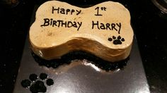 Gold & Black Doggie Cake