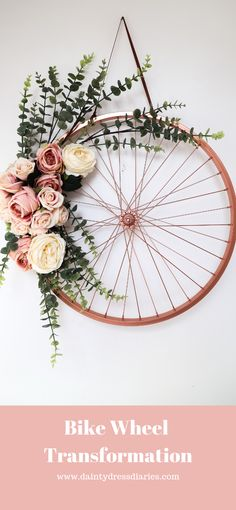 Bike wheel flowers 67 flower planters from old bicycle for garden balcony decoration ideas in every unique detail Decor Crafts, Diy Room Decor, Pallet Wedding, Deco Nature, Butterfly Wall Decor, Creation Deco, Geometric Decor, Decoration Inspiration, Deco Floral