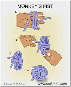 Alguna vez escucharon o vieron de que se trata el nudo puño o monkey knot??   Creo que hubo una explicación por este blog hace un tiempo, ...