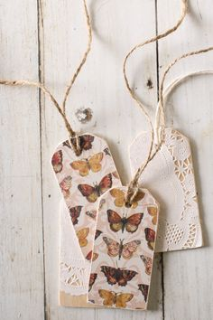 Scrap Paper & Wood Tags DIY