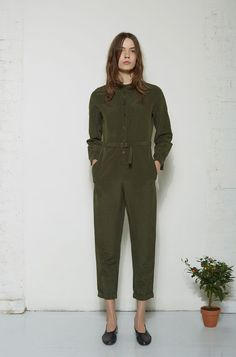 A.P.C. / Belted Jumpsuit Martiniano / Glove Slipper #lagarconneatelier