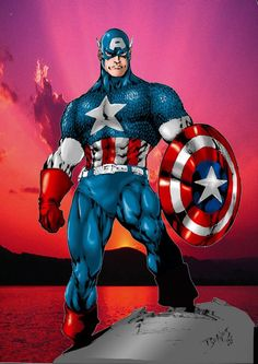 """Captain America (Steven """"Steve"""" Rogers) """"Many are Awakening to this yet many more are made to believe they are. Both those from the Negative and Light Realm make sure we receive what we believe IS. Comic Book Characters, Comic Book Heroes, Marvel Characters, Comic Character, Comic Books Art, Comic Art, Marvel Comics, Arte Dc Comics, Marvel Heroes"""